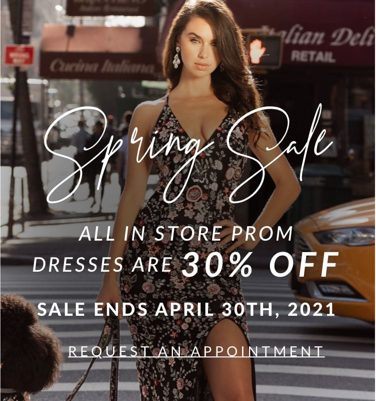 Spring Sale at Natalie's Bridals by Blue Blooms. Mobile image.